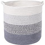 Gestrickter Spielzeug Kleidung Organizer Multifunktionale Aufbewahrungskorb Baumwoll Seil Wäschekorb mit Henkel
