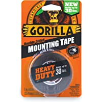 Gorilla Heavy Duty Double Sided Mounting Tape, Hanging, Instant 13.6kg Strong Hold, Permanent Bond, Weatherproof, 25.4mm…