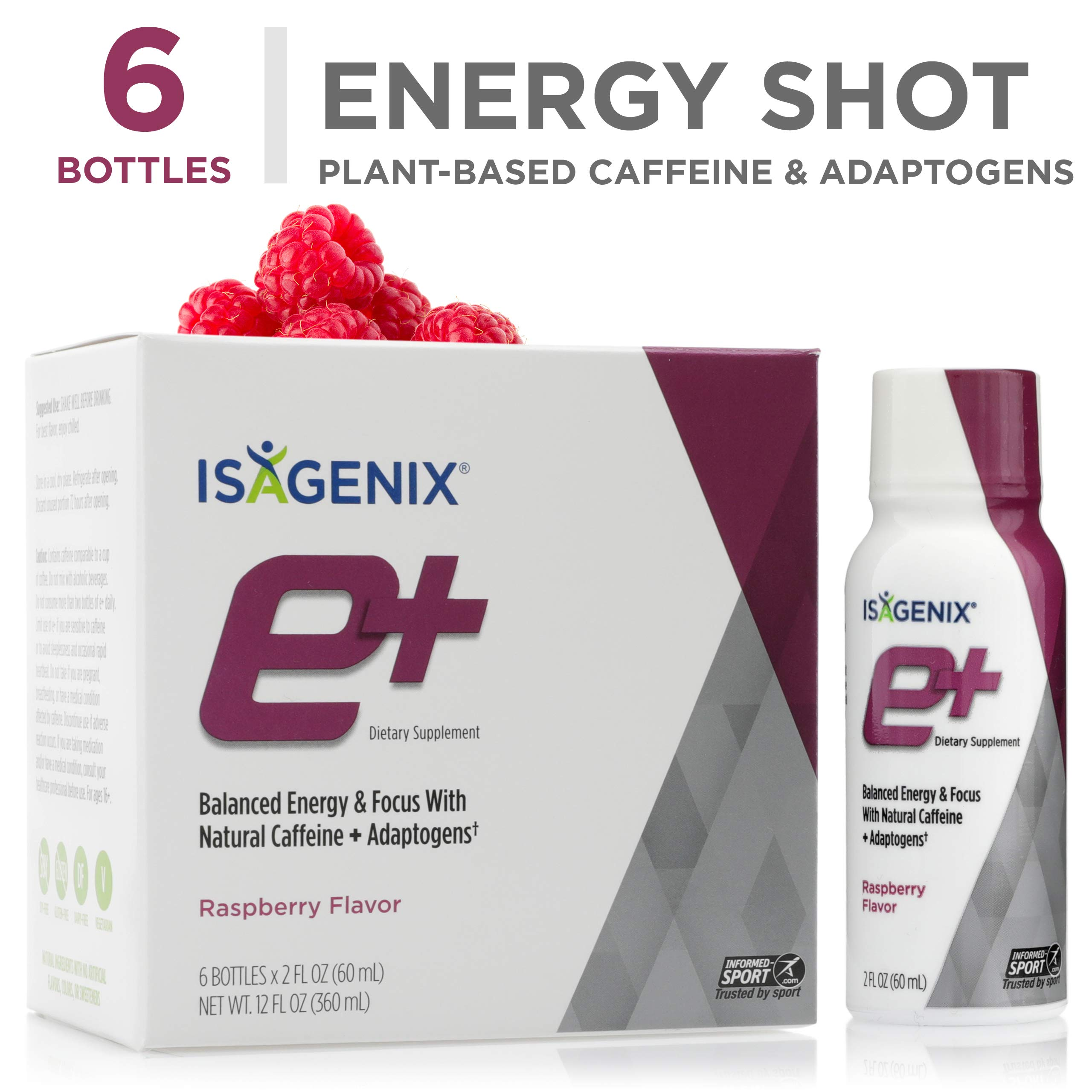 e+TM - Raspberry - 2-Ounce Bottle, 6 Count by Isagenix