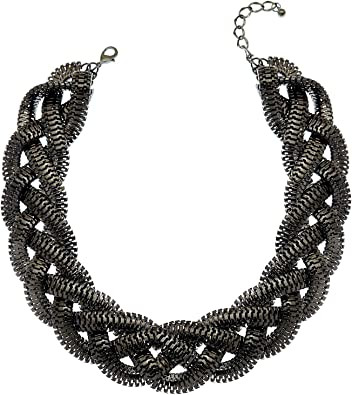 black leather cord necklace gifts Art Deco necklace frindge necklace women/'s necklace