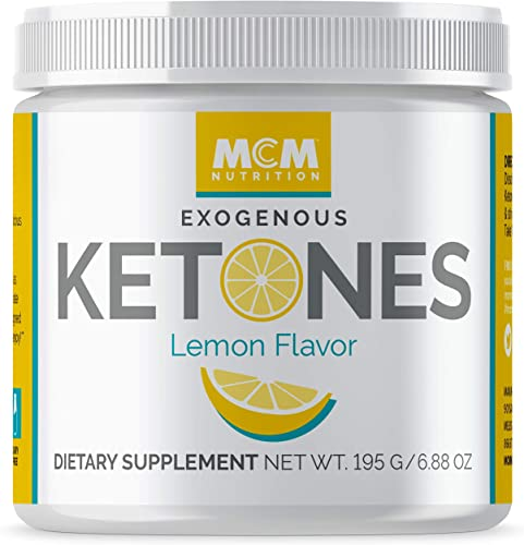 MCM Nutrition Exogenous Ketones Supplement BHB – Boosts Energy Suppresses Appetite – Instant Keto Mix That Puts You into Ketosis Quick Helps with The Keto Flu Lemon Flavor – 15 Servings