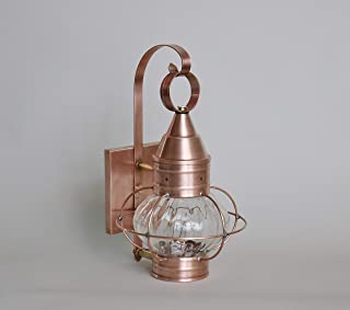 product image for Brass Traditions 631-OPT-AC Small Onion Wall Lantern Optic Globe, Antique Copper Finish Optic Globe Onion Wall Lantern