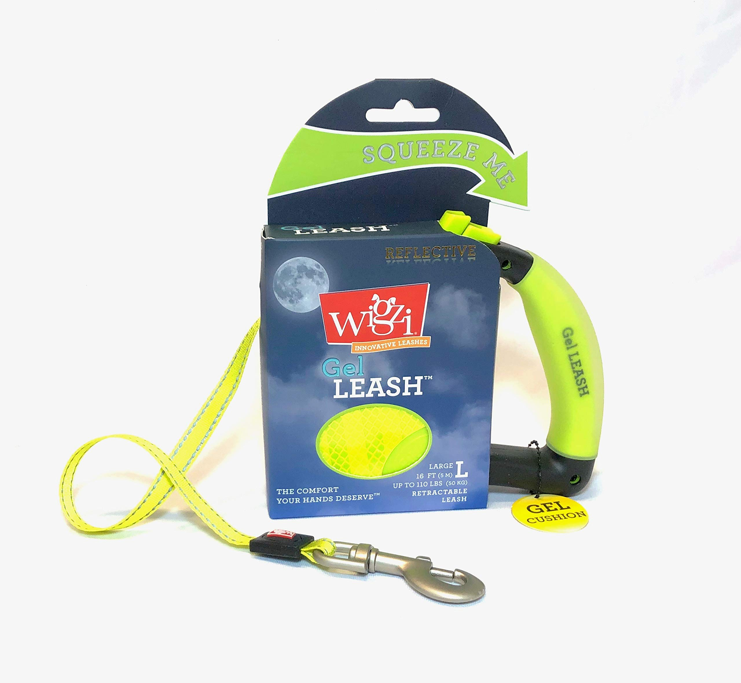 Wigzi Reflective Gel Retractable Leash, Yellow, Large by WIGZI (Image #4)