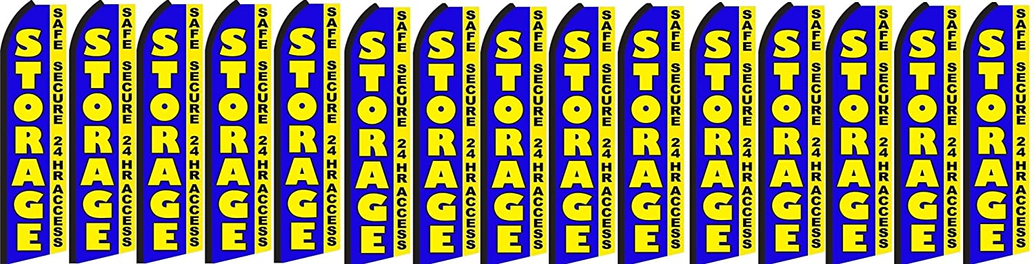 Pack of 15 Hardware not Included Safe Secure Storage King Swooper Feather Flag Sign