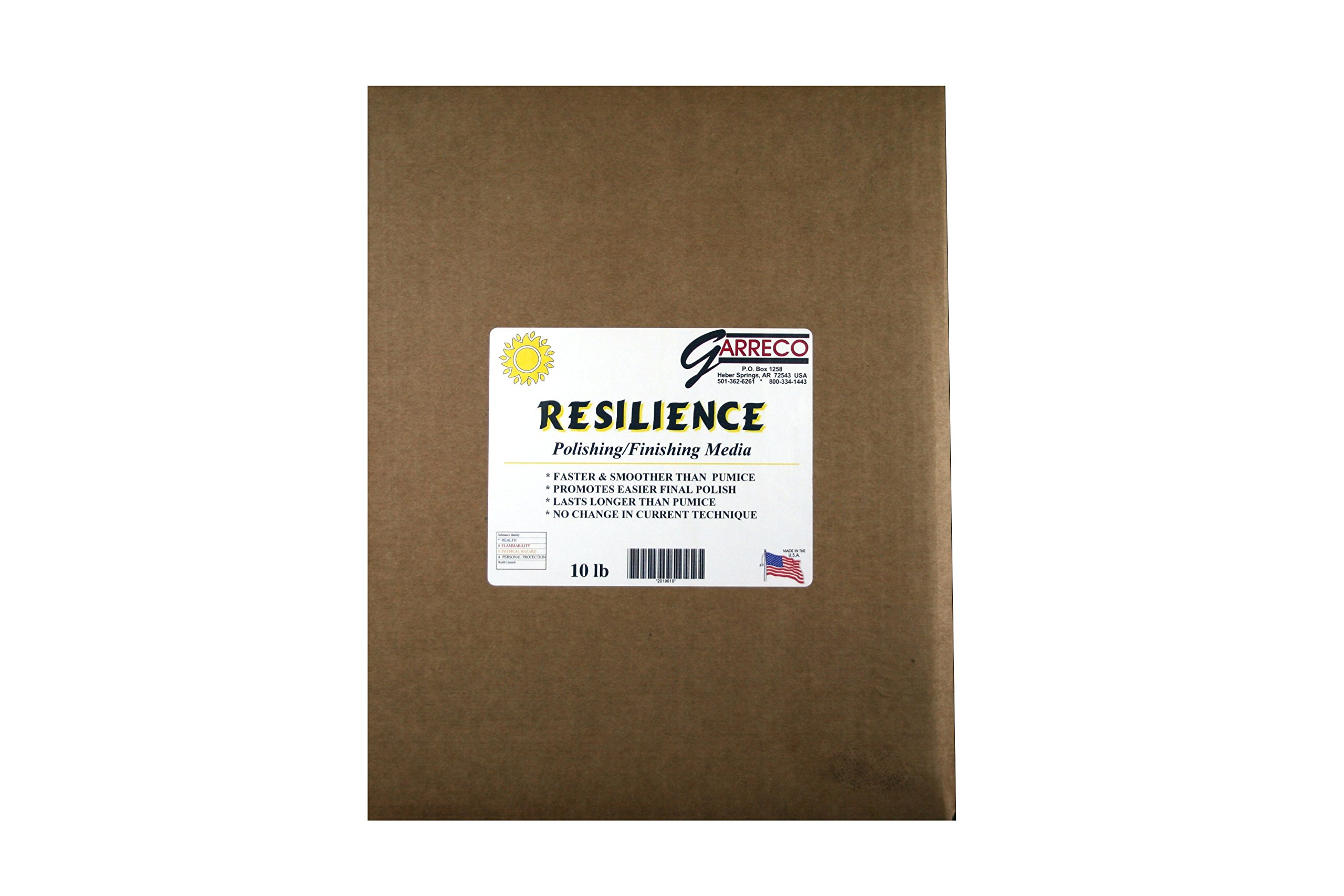Garreco 2019010 Dental Resilience Acrylic Finishing Abrasive Media, Pumice Substitute, 10 lb Jar