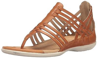 d0468f9ee4b1e ECCO Women s Women s Flash Lattice T-Strap Huarache Sandal Lion 36 EU 5-
