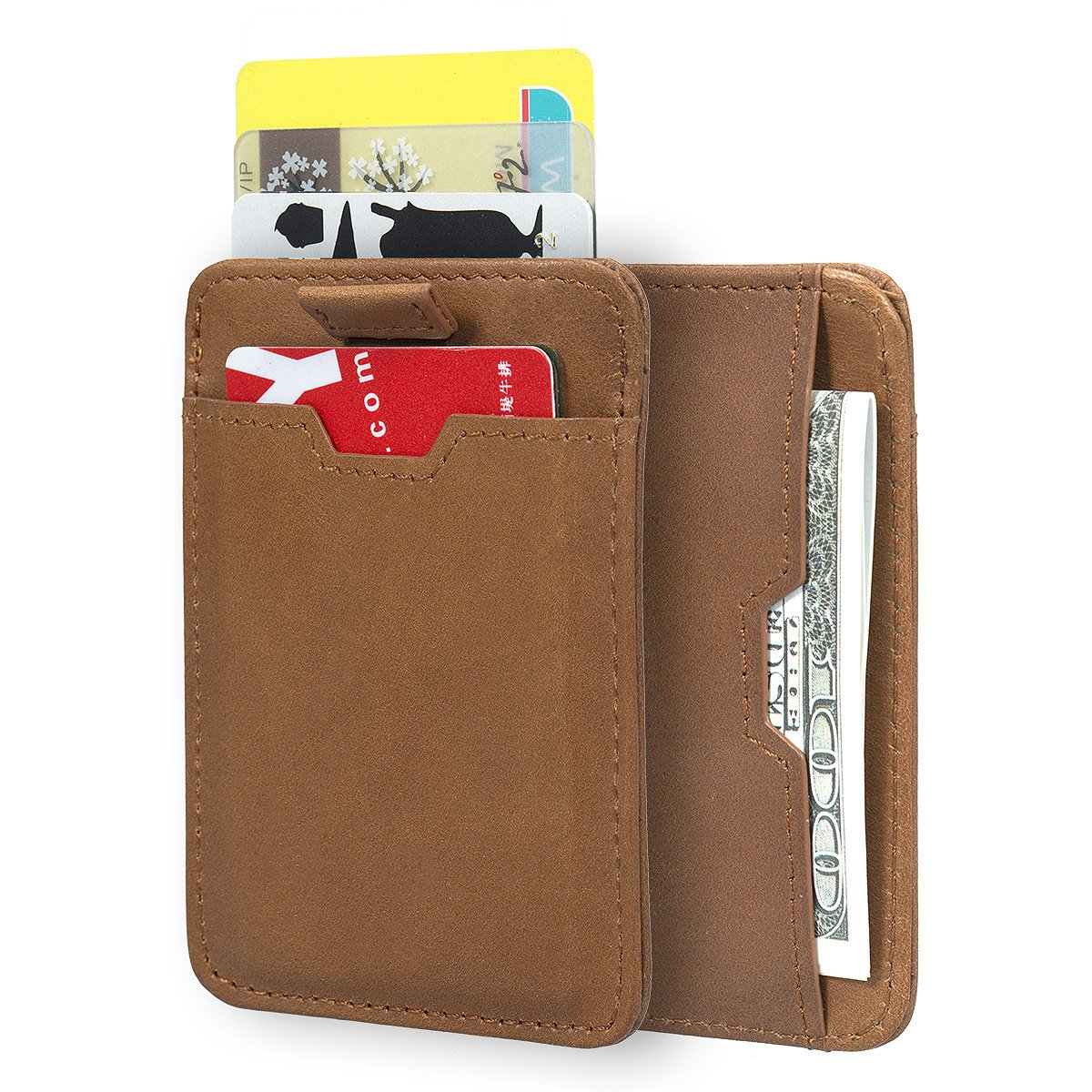 ManChDa RFID Blocking Money Clip Aluminum Pop-up Card Case Magnet Slim Wallet USMQB061