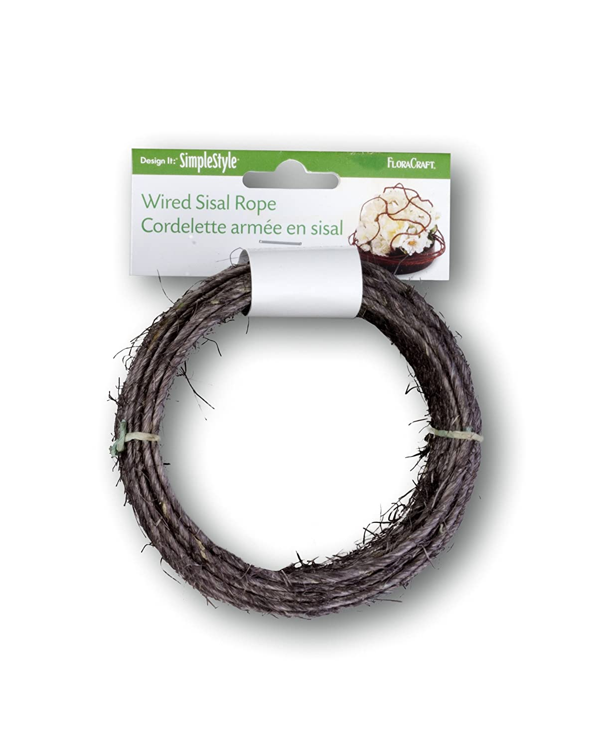 Amazon.com: FloraCraft SimpleStyle Wired Sisal Rope, Brown, 40 Feet