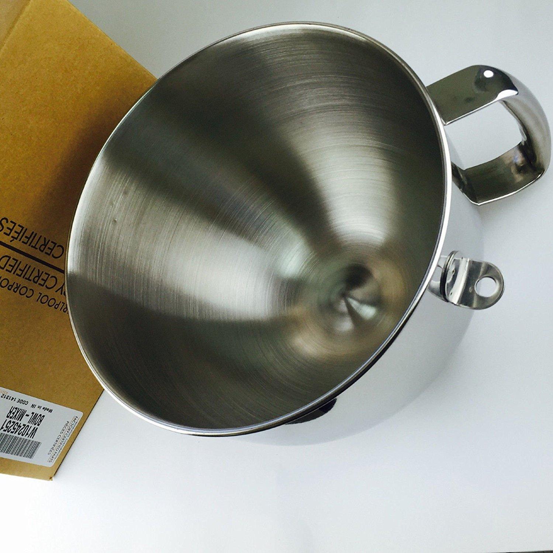 W10245251 Genuine KitchenAid Stand Mixer 6-Quart SS Bowl KN2B6PEH Ergonomic