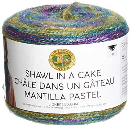 Amazon Lion Brand Yarn 6060 Shawl In A CakeMetallic Yarn Prism Gorgeous Lionbrand Com Patterns