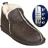 Shepherd Sheepskin Bootee Slipper - Style: Anton 4921 - Oiled Antique (53) - includes FREE Dasco Protector