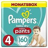 Pampers Baby Dry Pants Windeln Gr.4 (8-14 kg), Monatsbox, 1er Pack (1 x 160 Stück)