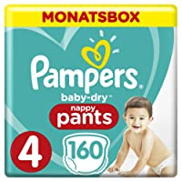 Pampers Baby Dry Pants Gr.4 Maxi 9-15kg MonatsBox