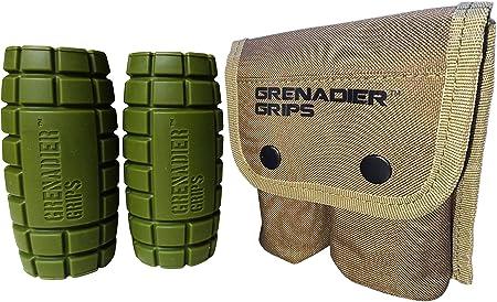 Grenadier Grips – Puños Únicos de Mancuernas/Barra para Un Enorme Aumento de Tamaño, Poder Explosivo, Fuerza de Agarre Incrementada, Crear Músculo en ...