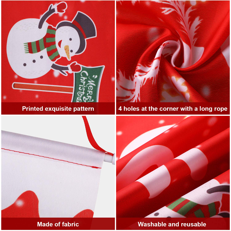 Boao 3 Pezzi Bandiera Merry Christmas Grande Portico Appeso Segno di Natale per Interno Esterno Decorazione di Natale Forniture Festa
