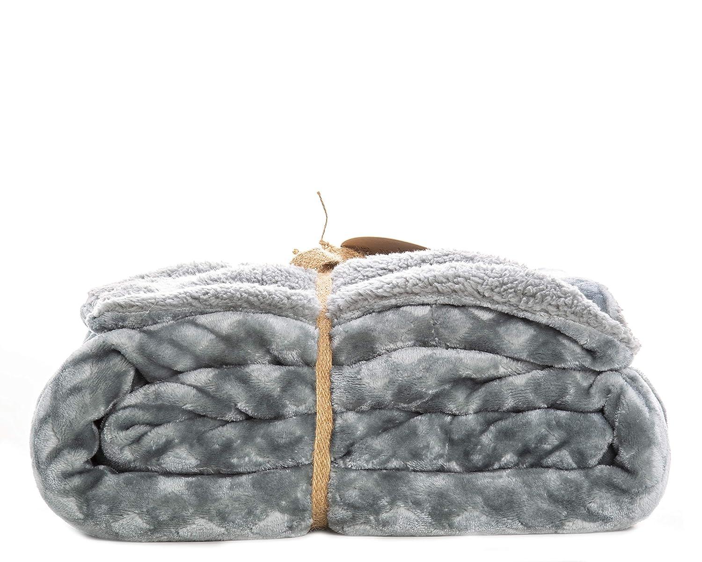 Soft Plum ReLive Reversible Velvet Luxury Berber Throw Blanket 50x60
