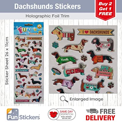 Fun Stickers Dachshunds 1703: Kitchen & Dining