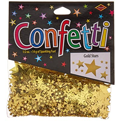 Beistle CN071 Gold Stars Confetti, 1/2-Ounce: Kitchen & Dining