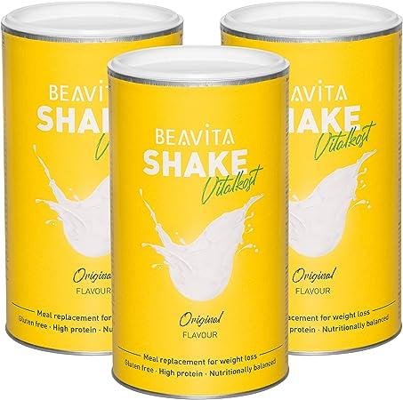 Batidos para adelgazar sabor Vainilla 3x 500 g – Sustitutivo de comida proteico – Batido saciante de apetito – Para perder peso y mantener músculo - ...