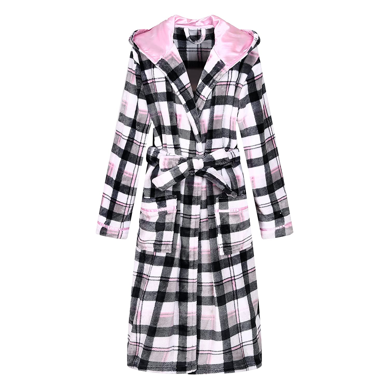 Richie House Women's Plaid Fleece Bathrobe Robe Size S-XL RHW2714