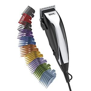 WAHL Home Haircutting Kit With Color Guards for Easy Identification Model 79722 Black