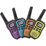 Uniden UH45-4 - UHF CB Handheld Radio (Walkie-Talkie) with Kid Zone – Quad Colour Pack