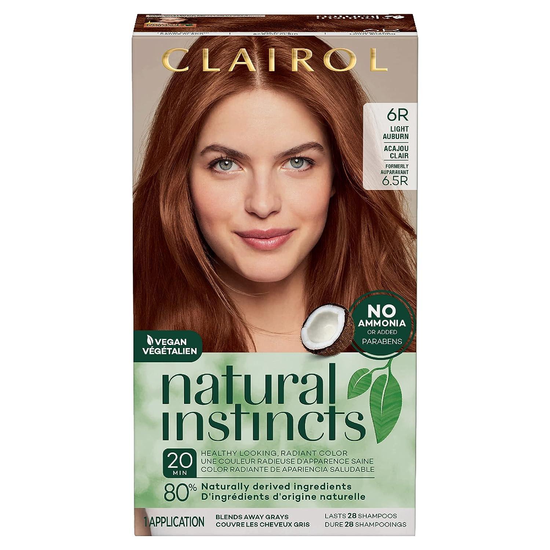 Clairol Natural Instincts Semi Permanent Hair Dye, 9R Light Auburn Hair  Color, 9 Count