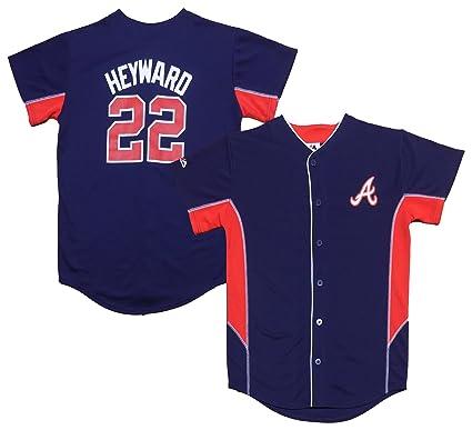 more photos 8d205 a3474 Amazon.com: Outerstuff Jason Heyward Atlanta Braves Navy ...