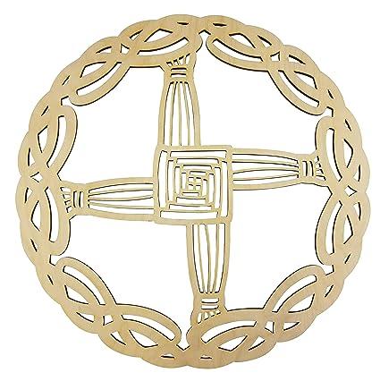 "12"" Celtic St Brigid's Cross Celtic Knot Wall Art   12"" Diameter - 1/8""  Thick   Wooden Wall Art, Crystal Grid, Zen Wall Art, Wooden Art, Wooden  Wall"