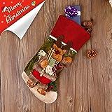 """Codream 18"""" Classic Christmas Stockings Felt Applique Décor Stocking XmasDecor (Reindeer)"""