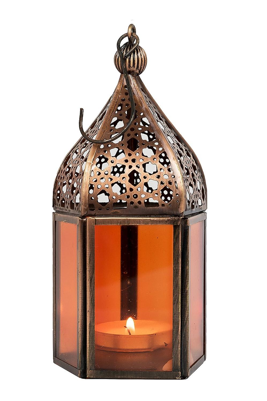 d/écoration de maison orientale Photophore marocain pour l/'ext/érieur au jardin ou l/'int/érieur sur la table Lot de 6 Petite Lanterne marocaine d/écorative Meena 16cm Lanternes pour bougie