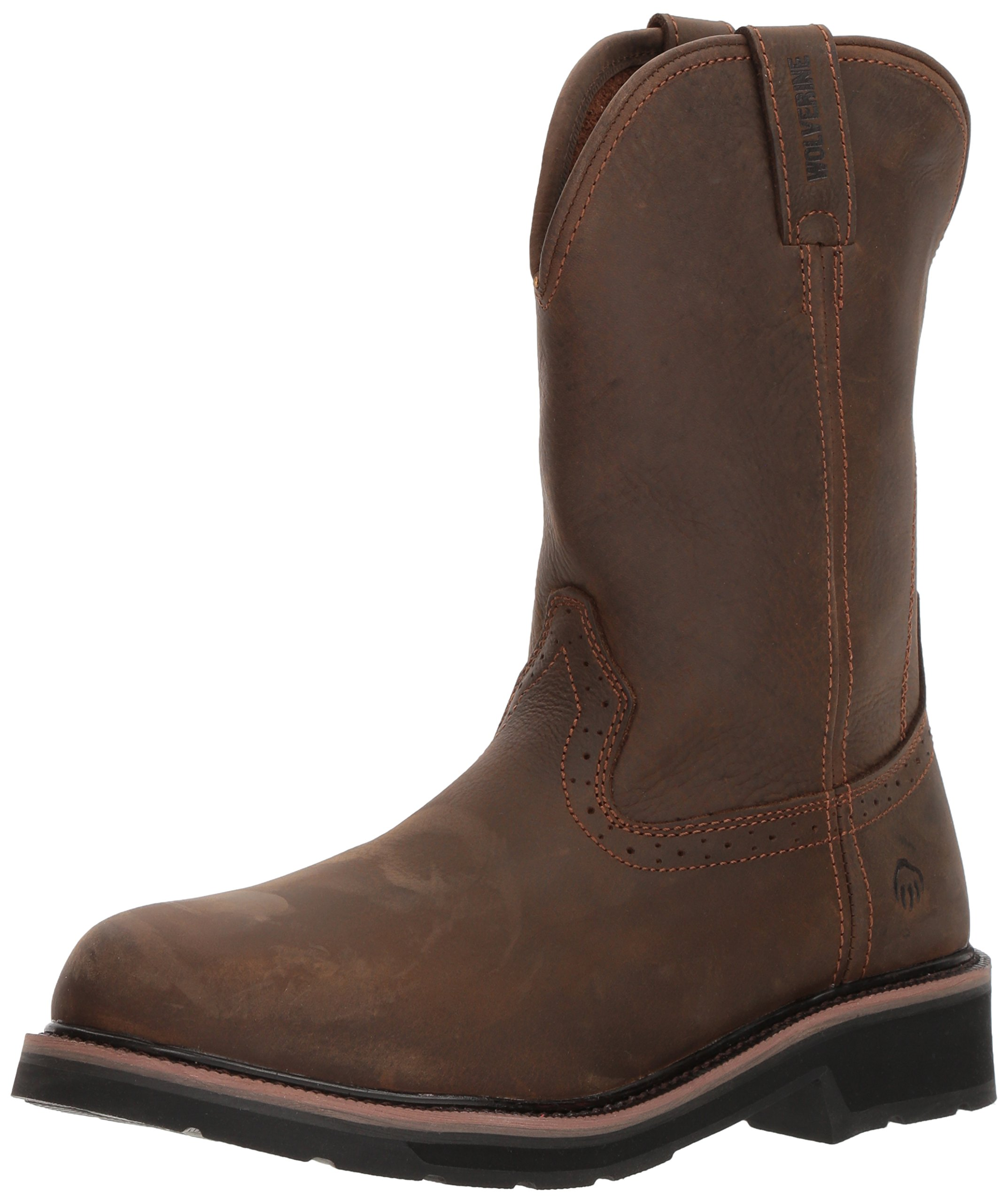 Wolverine Men's Ranchero Soft-Toe Wellington Construction Boot, Summer Brown, 11 Extra Wide US