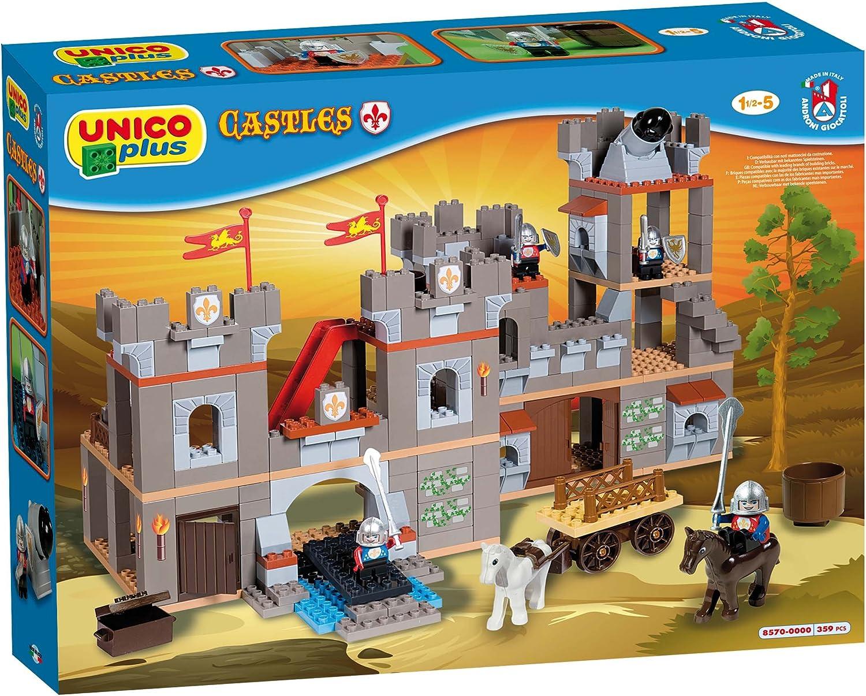 Androni Unico Plus 8570 - Castillo para Construir (359 Piezas, tamaño Grande)