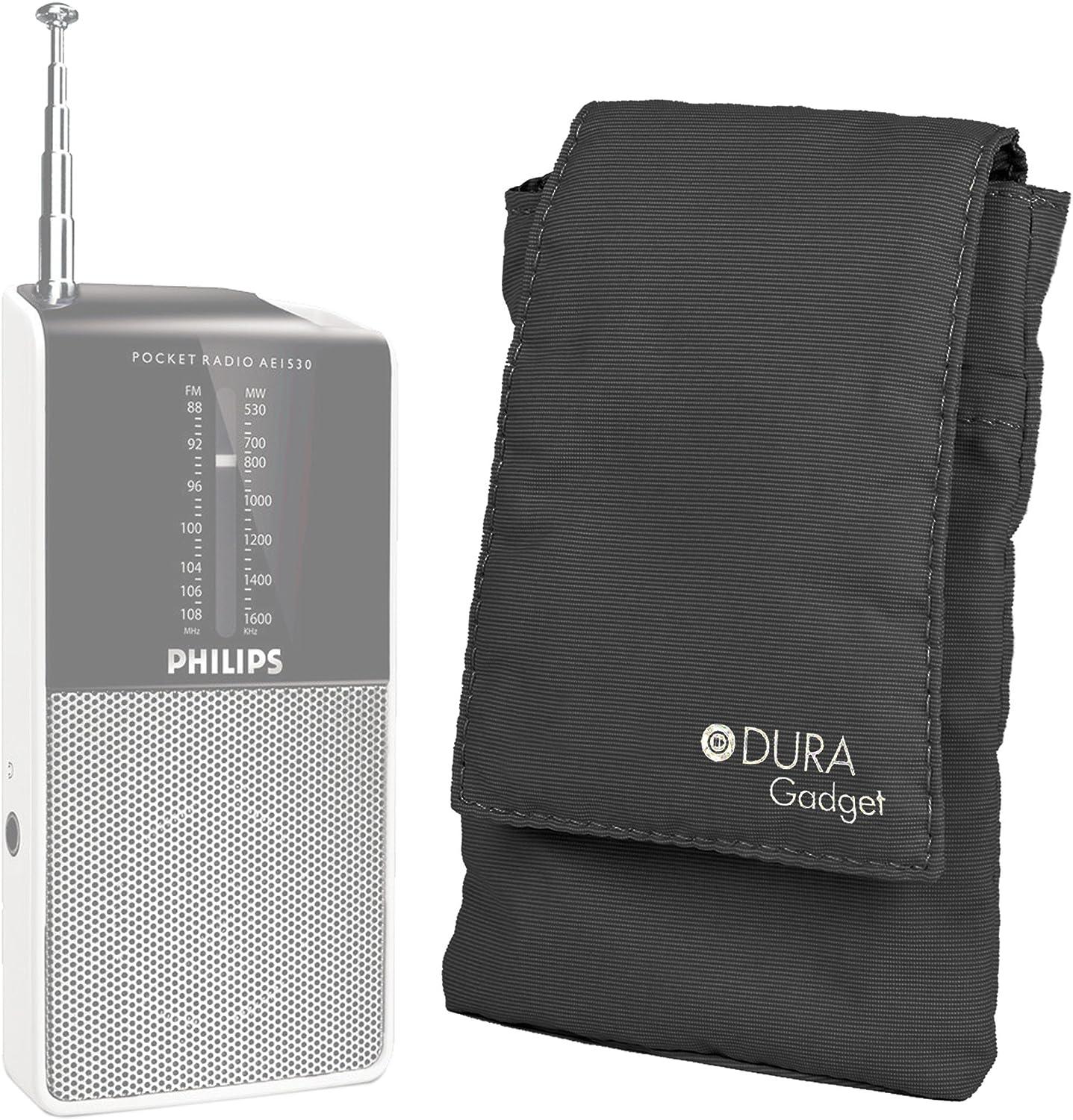 DURAGADGET Funda Acolchada Negra para Radio Portátil Sony ICF8S / AGPTek R08: Amazon.es: Electrónica