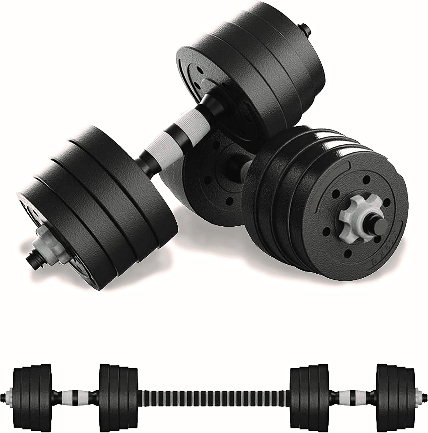 SWIFTFIT Adjustable Dumbells Barbell Weight Set, All in One Including a Barbell Connector for Home Office and Gym (20 LBS Set, 40 LBS Set, 60 LBS Set)