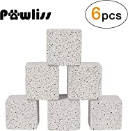 Pawliss Teeth Grinding Lava Block for Hamster Chinchilla Rabbit (Pack of 6)