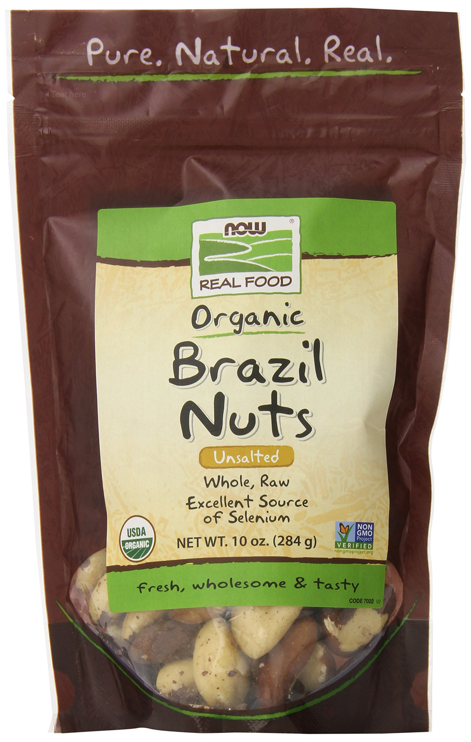 NOW Foods Organic Brazil Nuts, 10-Ounce
