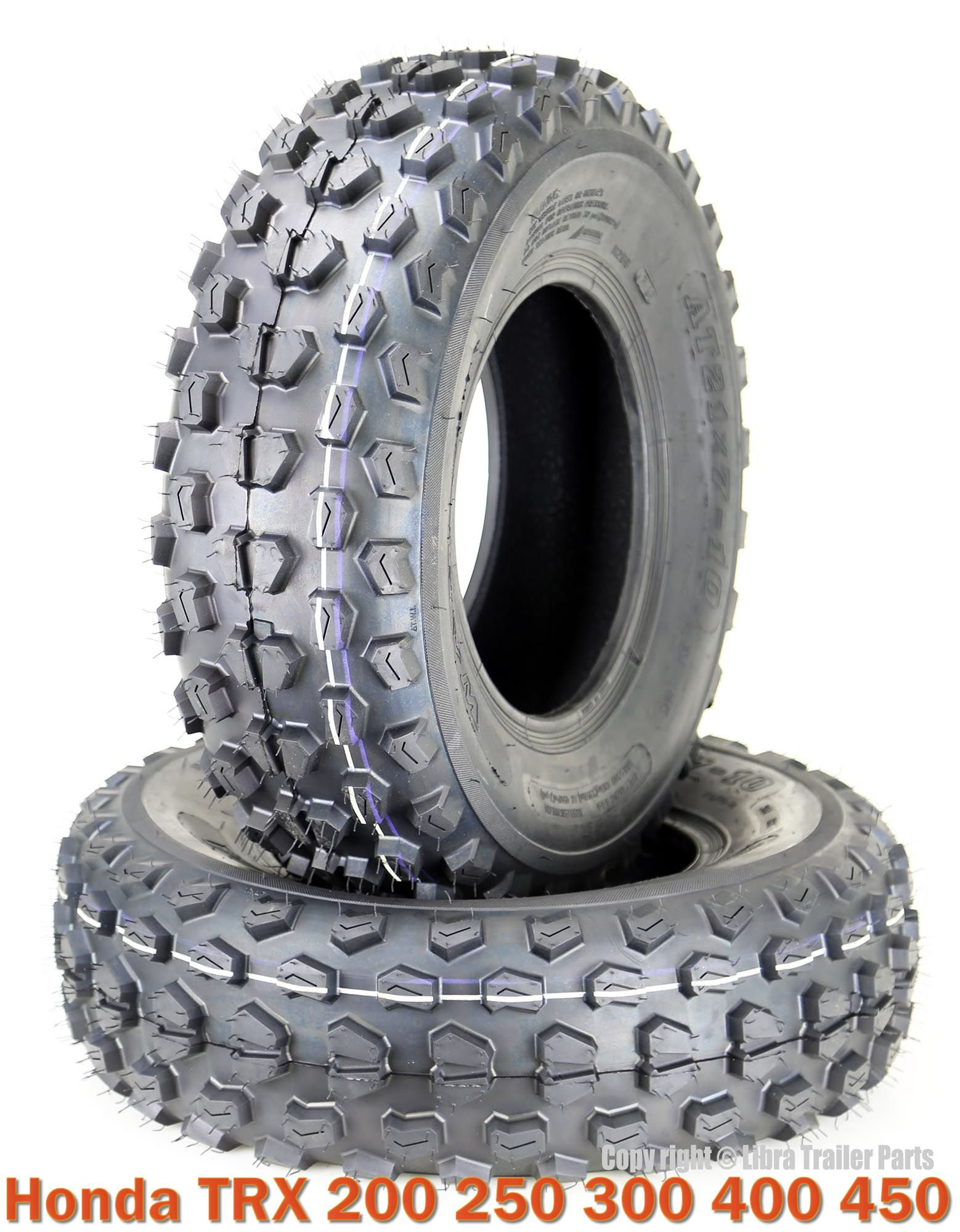 (2) 21x7-10 21x7x10 Honda TRX 200 250 300 400 450 ATV Front Tire Set 6PR