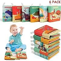 BelleStyle Libros de Tela para Bebé, 6PCS Libro