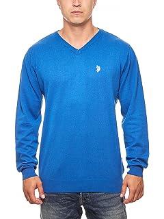 U.S.POLO ASSN. Pullunder Hommes Bleu Knit Tank V-Neck, Taille:M