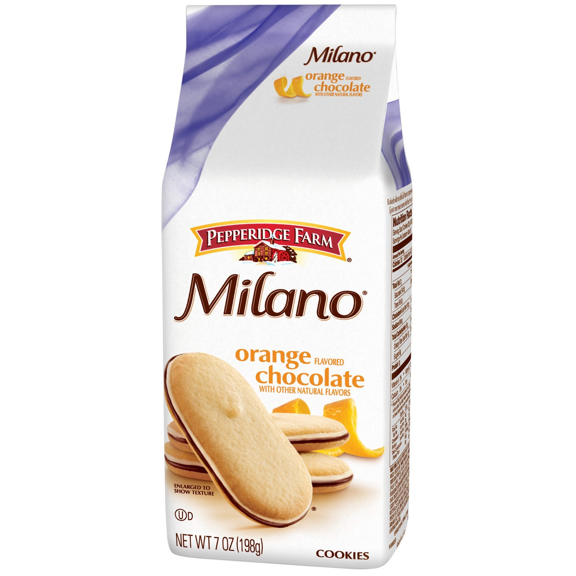 Pepperidge Farm Milano Orange Flavored Chocolate Cookies 7 oz (Pack of 5) by Pepperidge Farm