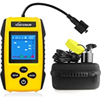$49 » Venterior Portable Fish Finder Handheld Fishfinder Depth Finder Fishing Gear with Sonar Transducer,…