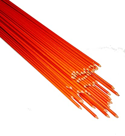 c4d559e2c92c 200 Pack Snow Plow Stakes 48 Inch Long Driveway Markers Plow Stakes Orange  Fiberglass Stakes for