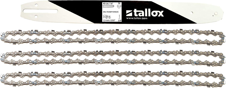 tallox 1 Espada y 3 Cadenas de Sierra 3/8