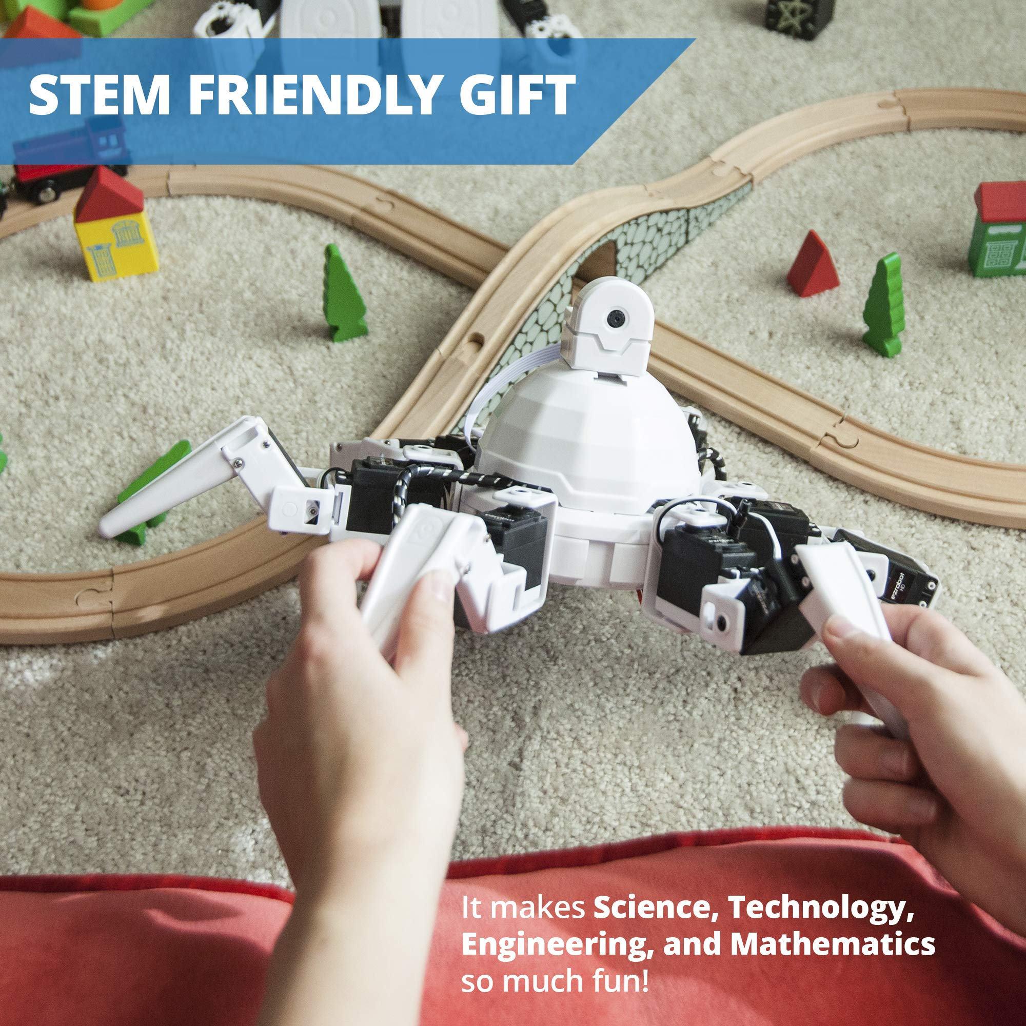 EZ-Robot Six Hexapod Kit DIY STEAM Educational Robotics Set for Kids & Adults Learning to Design & Build Programmable Electronic Robots by EZ-Robot (Image #3)