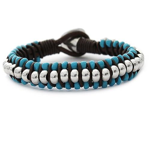 Beau Soleil Jewelry Armband Lederarmband Damen Herren Lederschmuck Ibiza  Style (18cm) 5376ddb717