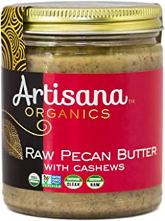 product image for Artisana Organics Raw Pecan Butter with Cashews, 8 oz (6 pack)