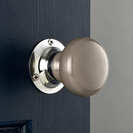 Pushka Home Dark Grey Ceramic Internal Spring Loaded mortice door ...