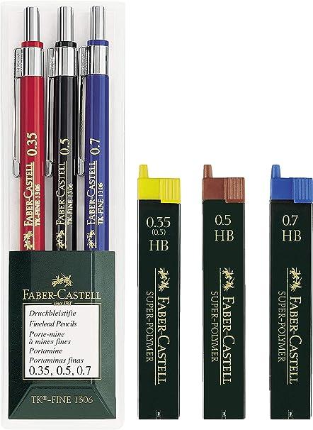 FABER CASTEL//  1 ETUI DE 6 MINES 1,4 MM  B POUR PORTE MINES FABER CASTEL