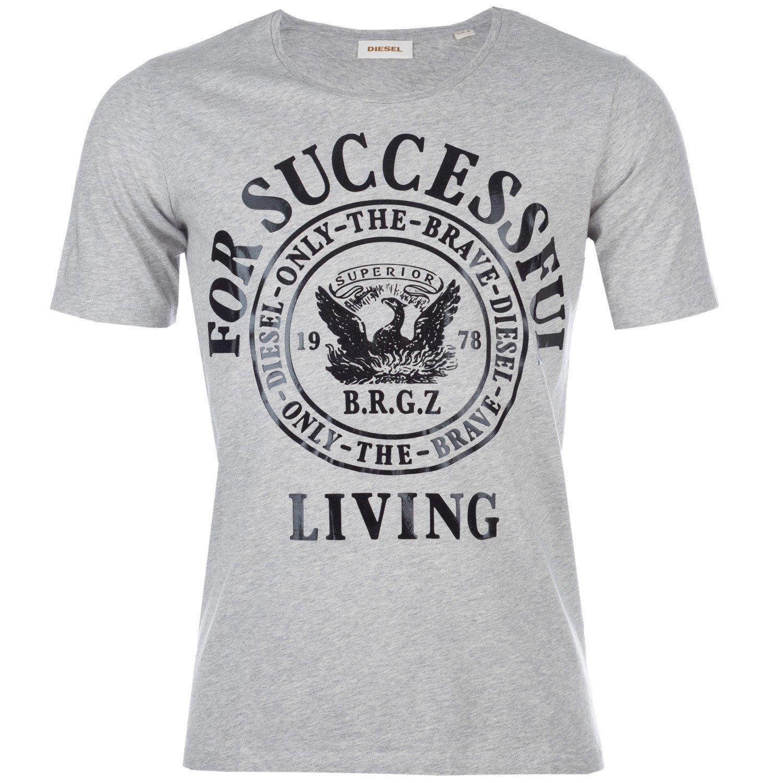 Grey Marl Diesel Mens T-Webmarwa T-Shirt